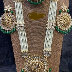 Beautiful raanihaar with earrings and tikka